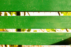 Green wooden planks with leaves in between Royalty Free Stock Photography