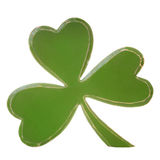 Green wooden shamrock Royalty Free Stock Images