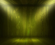 Green Wooden Spotlight Room Background Stock Images