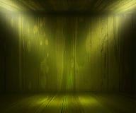 Green Wooden Spotlight Room Background Stock Images