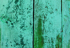 Green Wooden Texture from Board with Structure and Chink,Old Paint,Cracks,Nature Background Stock Images