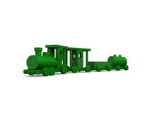 Green wooden toy train Royalty Free Stock Photography