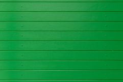 Green wooden wall panel as background Stock Photography