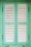 Green wooden window Royalty Free Stock Image