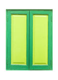 Green wooden window isolated on white background Royalty Free Stock Photography