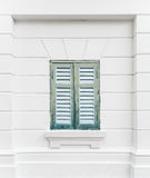 Green wooden window. Royalty Free Stock Photography