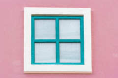 Green wooden window Stock Photography