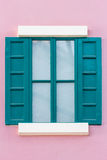 Green wooden window Royalty Free Stock Images