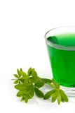 Green Woodruff Drink Royalty Free Stock Images