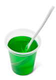 Green woodruff jelly Stock Images