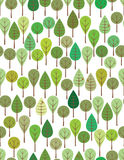 Green woods stock illustration