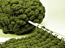 Green wool Royalty Free Stock Photography