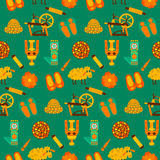 Green wool knit seamless pattern Stock Photography