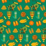 Green wool knit seamless pattern Stock Photography