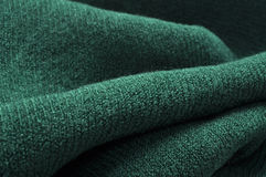 Green wool scarf Royalty Free Stock Photography