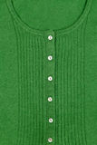 Green wool sweater, texture, collar Royalty Free Stock Photos