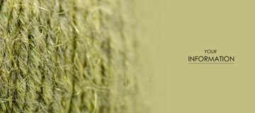 Green wool thread macro texture material pattern. Blur background royalty free stock photography