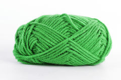 Green wool Yarn Stock Photo