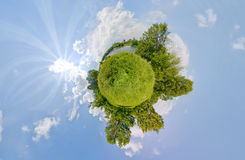 Green Word. Hight resolution panoramic image looks like green planet stock photography
