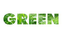 Green word concept Royalty Free Stock Photo