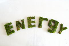 Green word energy Royalty Free Stock Photos
