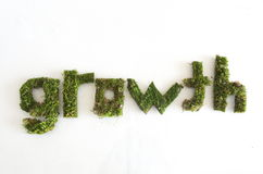 Green word growth Stock Photos
