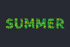 Green word summer Royalty Free Stock Images