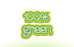 100% green word text logo icon typography design Stock Photography