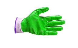 Green work gloves isolated Stock Photography