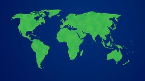 Green World. Image of world presented as green and ecological Royalty Free Stock Image