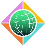 Green world. Isolated illustrated image Stock Image