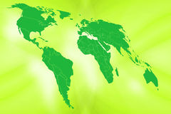 Green World. Illustration Royalty Free Stock Images