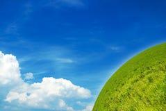 Green world. GAbstract Green world and sky Stock Image