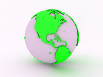 Green World America white Royalty Free Stock Images