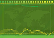 Green World Background with halftone effects Stock Image