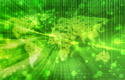 Green world digital background Royalty Free Stock Image