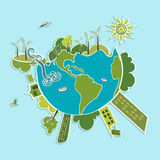 Green World ecologic elements. Royalty Free Stock Photo