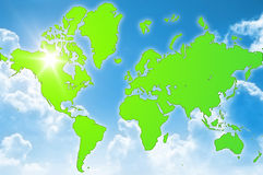 Green world environment Stock Photo