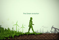 Green world vector illustration