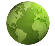 Green world globe Royalty Free Stock Photo