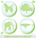 Green world glossy buttons Royalty Free Stock Photo