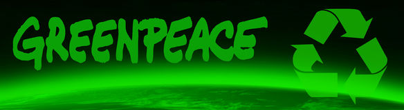 Green world and greenpeace royalty free illustration