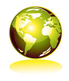 Green world Icon Royalty Free Stock Photography