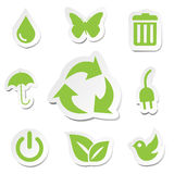 Green World Icons Sets Royalty Free Stock Photography
