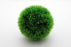 Green World Isolated. Sphere Green Grass Isolated in White Royalty Free Stock Image