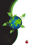 Green World With Leaves. An illustration of a green world with leaves Stock Photography