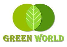 Green World Logo. Nature vector logo design isolated on white background vector illustration
