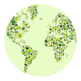 Green world made of icons Stock Photos