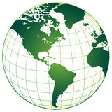 Green World Map Royalty Free Stock Photography