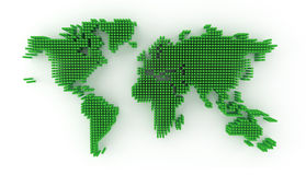 Green world map Stock Photos